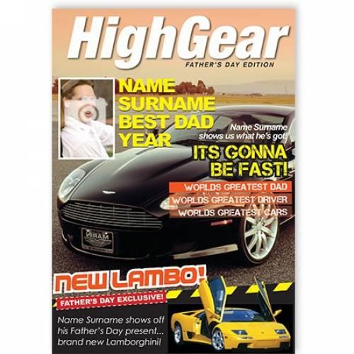 Best Dad Sports Car Card