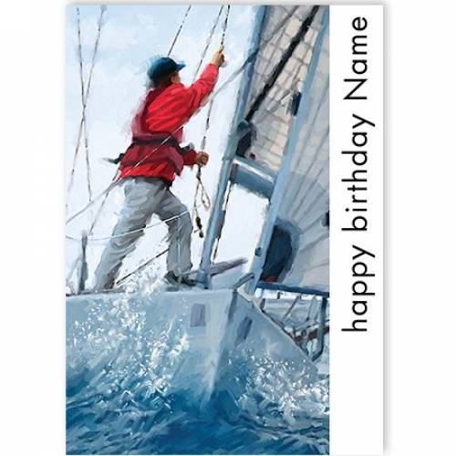 Happy Birthday Sailing Card