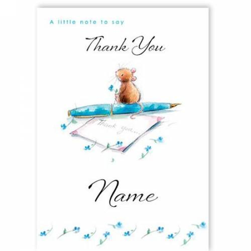 Little Note To Say Thank You Card