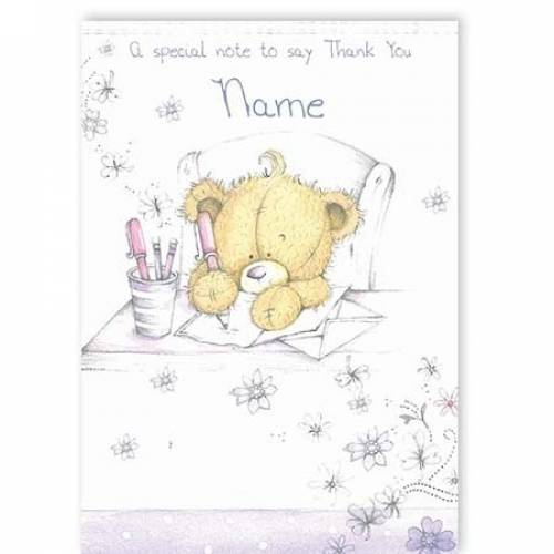 Special Note To Say Thank You Card