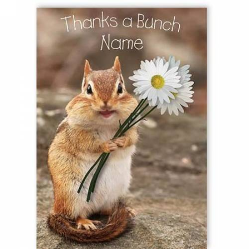 Thanks A Bunch Chipmunk Card