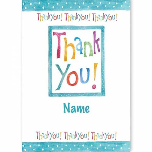 Thank You! Thank You! Thank You! Card