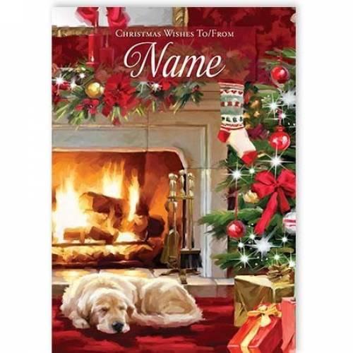Fireside Christmas Wishes Christmas Card