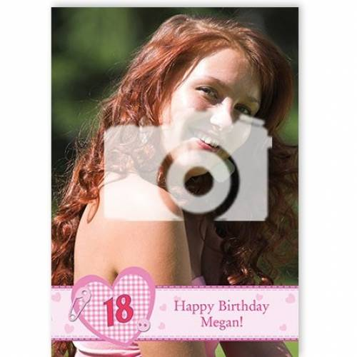 Insert Age - Happy Birthday Photo Birthday Card