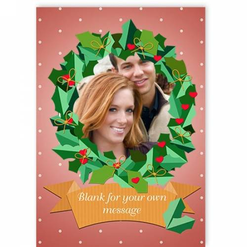 Christmas Wreath Photo Card