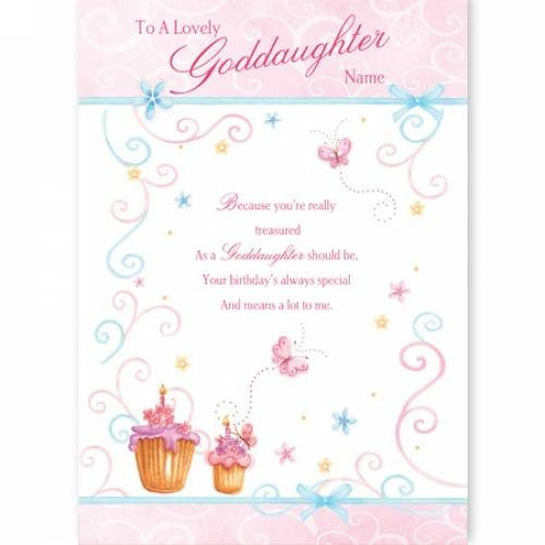 Lovely Goddaughter Birthday Card