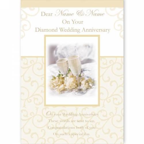 On Your Diamond Anniversary Card