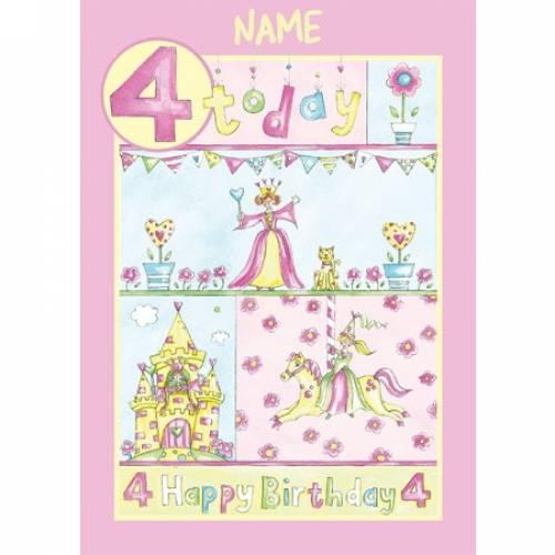 Birthday Girl 4 Today Birthday Card