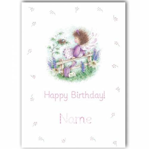 Birthday Girl Purple Fairy Any Age Birthday Card