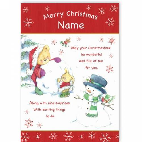 Full Of Fun And Nice Surprises Christmas Card