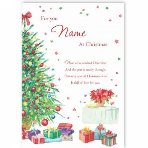 Special Christmas Wish Christmas Card
