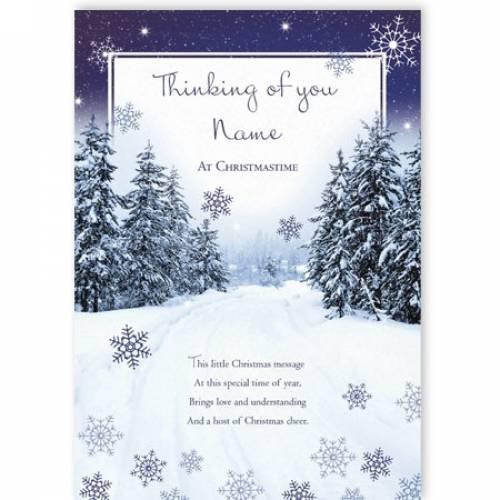 Christmas Cheer Thinking Of You Christmas Card