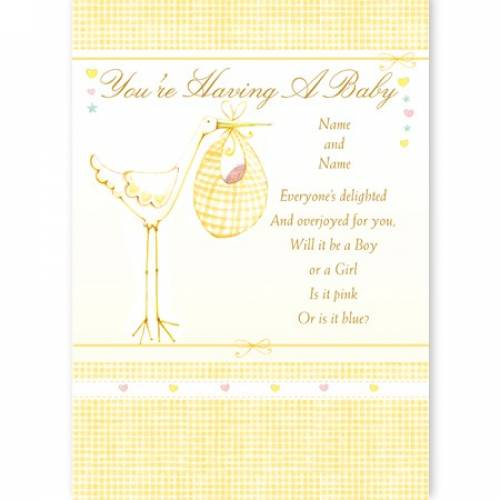 You're Having A Baby Stork Congratulations Card