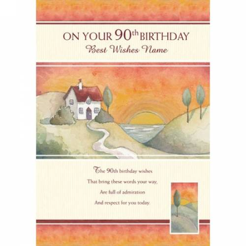 Best Wishes On Your 90th Birthday Card