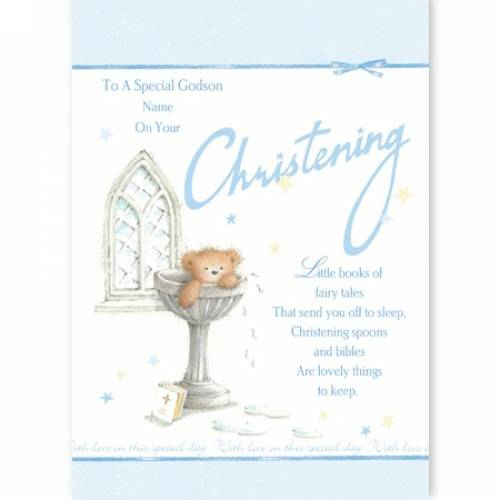 Special Godson Christening Card