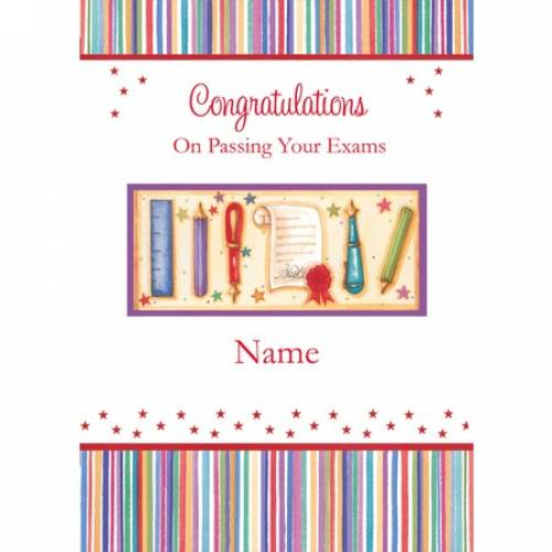 Congratulations On Passing Your Exams Card