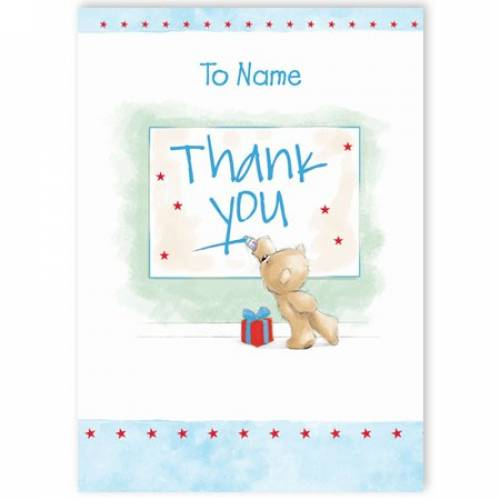 Teddy Bear Thank You Card