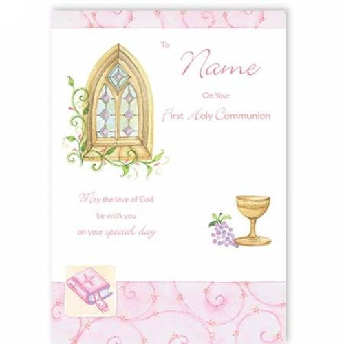 First Holy Communion Church Chalice Card