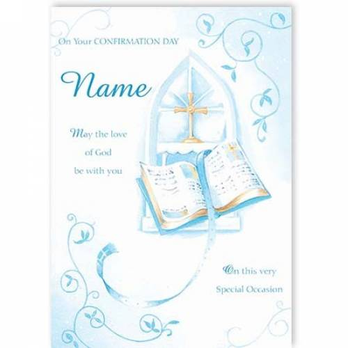 Blue Boy On Your Confirmation Day Card