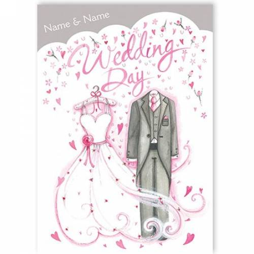 Wedding Day Dress And Suit Wedding Card