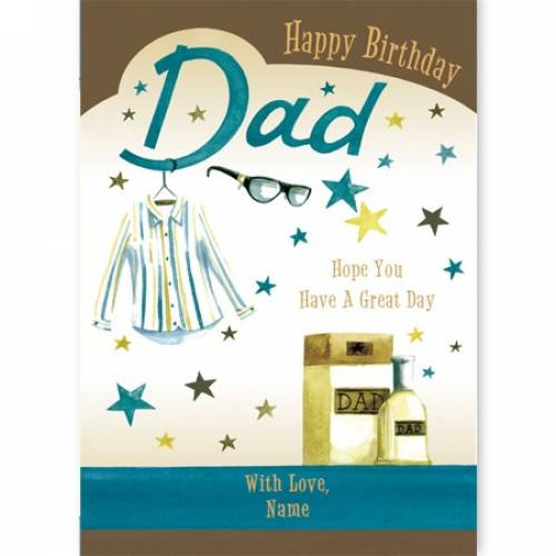 Shirt & Aftershave Happy Birthday Dad Card