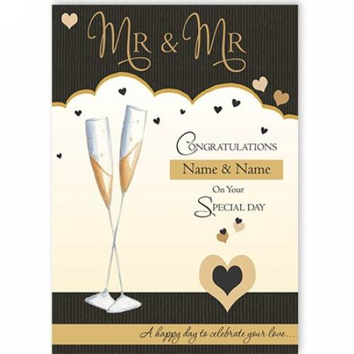 Mr & Mr Congratulations On Your Special Day Wedding Card