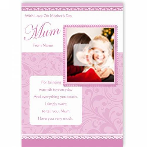 Love You Very Much Mum Mother's Day Card