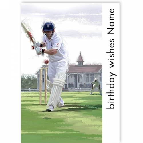 Cricket Birthday Wishes Card