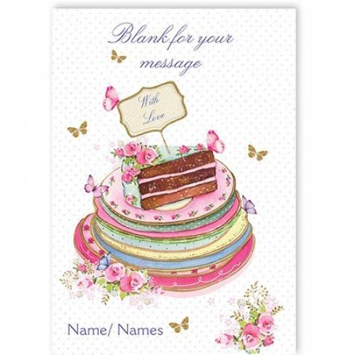 Any Message Cake Plates Birthday Card