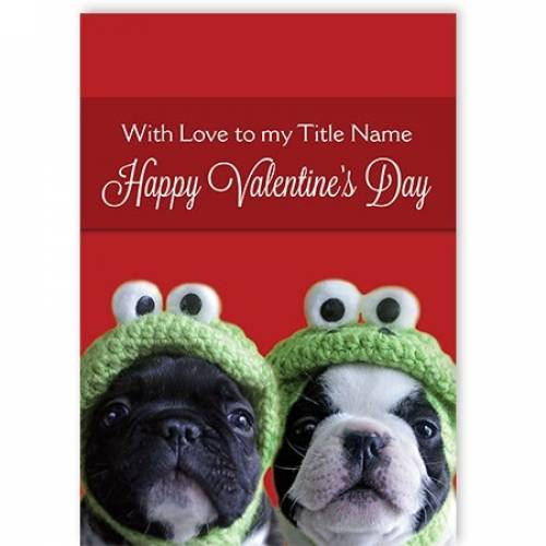Happy Valentine's Day Two Peas In A Pod Card
