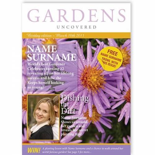 Purple Flower World's Best Gardener Card