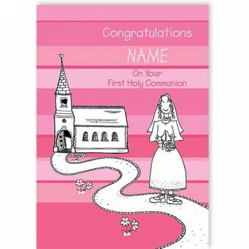 Congratulations Girl On Your First Communion Card