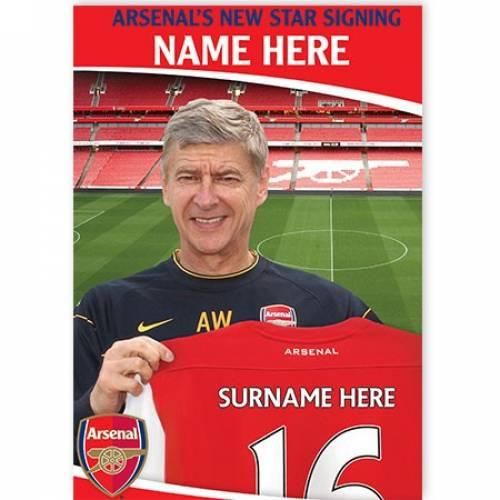 Arsenal's New Start Signing Birthday Card