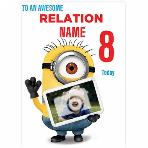 Awesome Minions Birthday Card