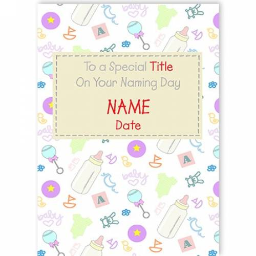 To A Special Baby Naming Day Card