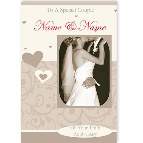 To A Special Couple On Your Names Twentieth Anniversary Card