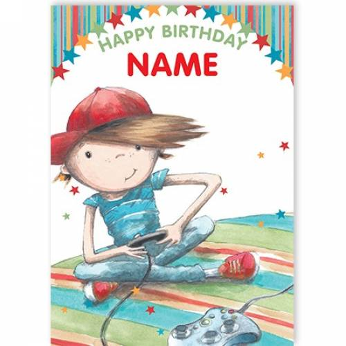 Gamer Boy Happy Birthday Card