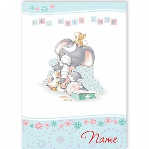 Get Well Soon Elephant Card