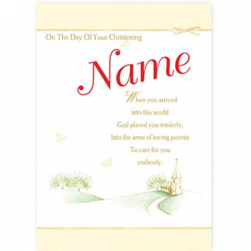 Christening Day Church Neutral Card