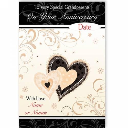 Grandparents Anniversary Heart Card