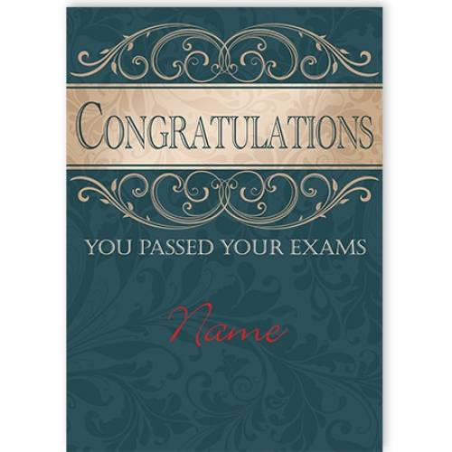 Congratulations Exams Passed Card