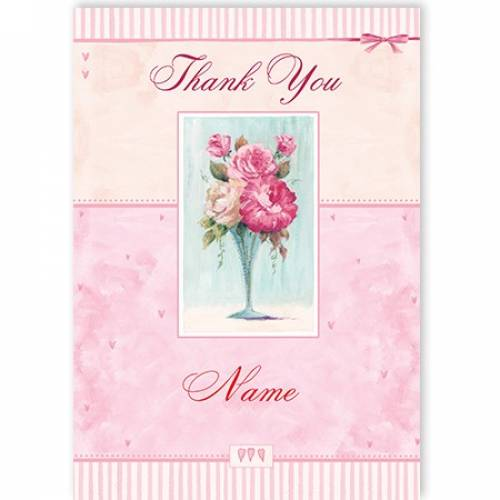 Vase Of Flowers Thank You Card