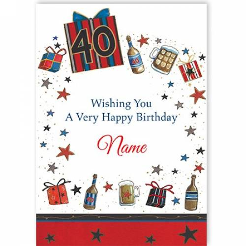 Beer 40th Birthday Card