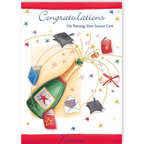 Champagne Bottle Passing Junior Cert Card