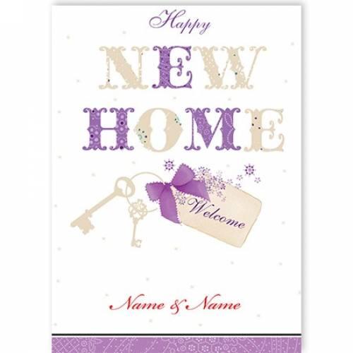 New Home Keys Card
