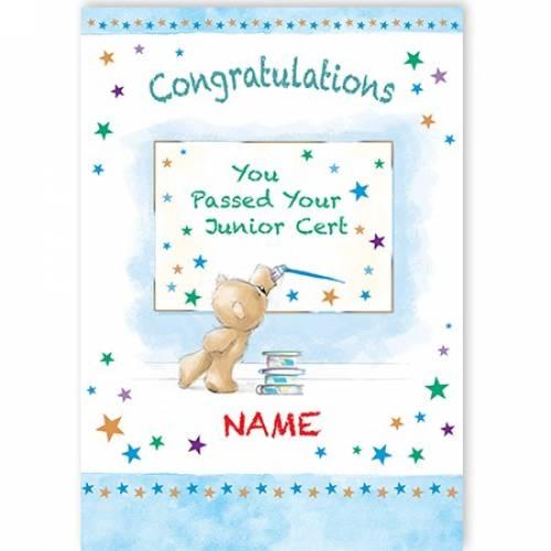 Congratulations You Passed Junior Cert Card