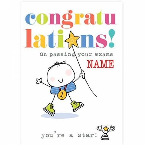 Congratulations On Passing Your Exams, No. 1 Card