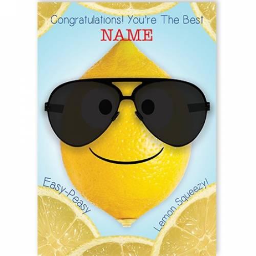 Congratulations, Easy Peasy Card