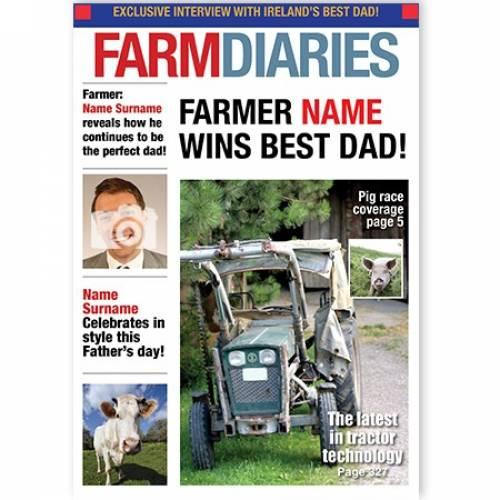 Farm Diaries Best Dad Upload Photo Card