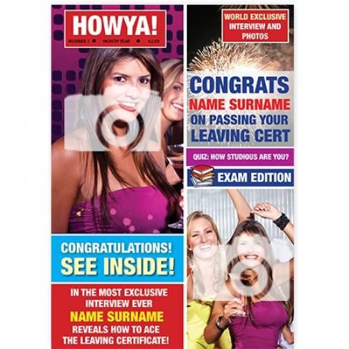 Howya Magazine Cover Leaving Cert Card